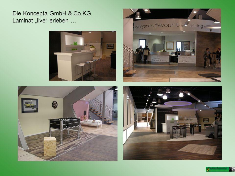 Die Koncepta GmbH & Co.KG Laminat live erleben …