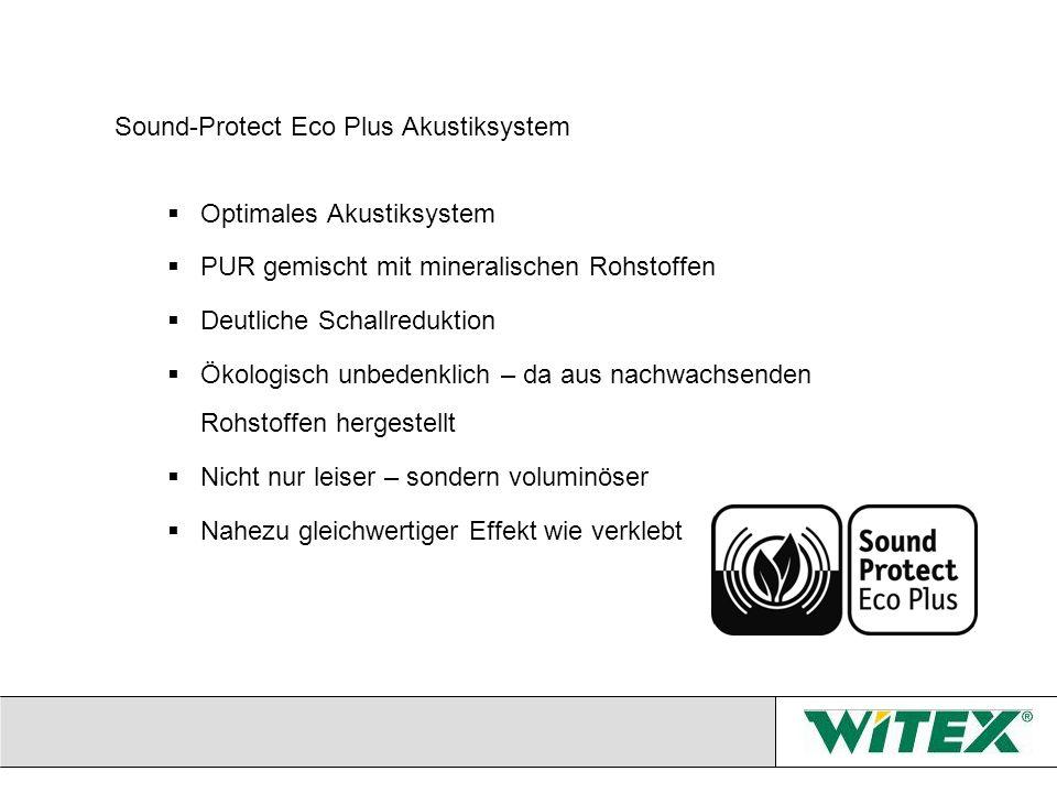 Sound-Protect Eco Plus Akustiksystem Optimales Akustiksystem PUR gemischt mit mineralischen Rohstoffen Deutliche Schallreduktion Ökologisch unbedenkli