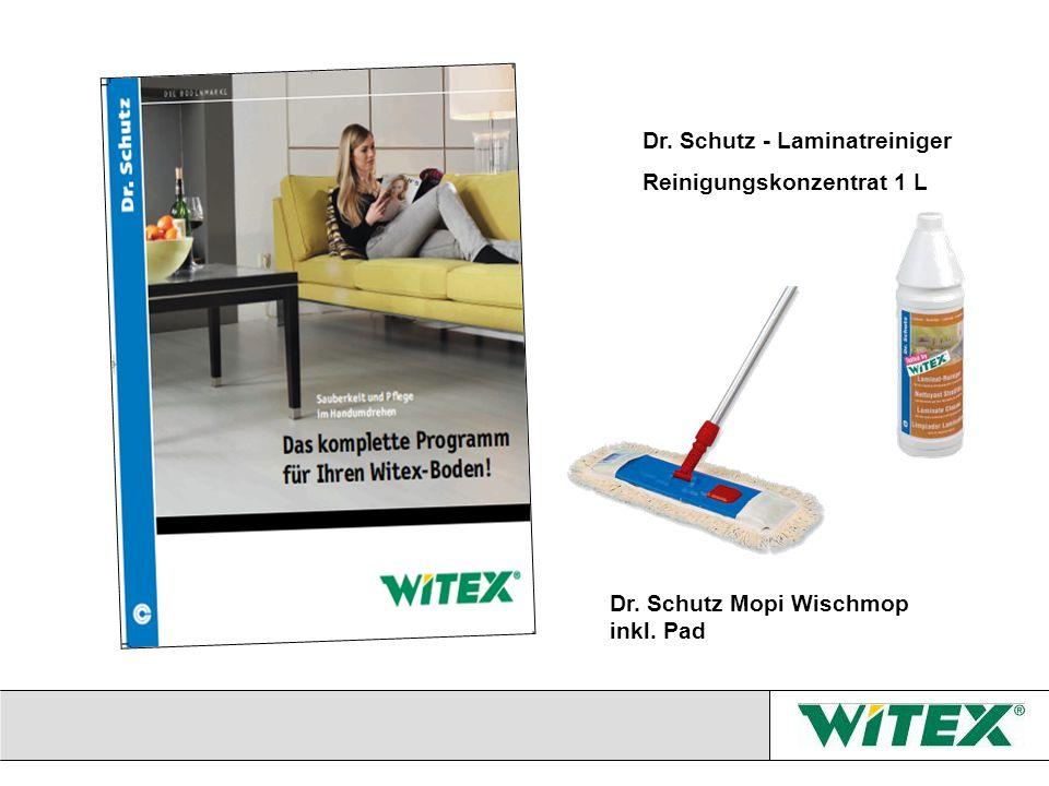 Dr. Schutz - Laminatreiniger Reinigungskonzentrat 1 L Dr. Schutz Mopi Wischmop inkl. Pad