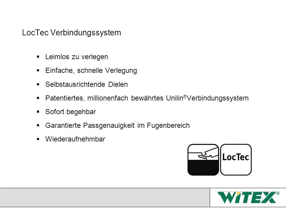 LocTec Verbindungssystem Leimlos zu verlegen Einfache, schnelle Verlegung Selbstausrichtende Dielen Patentiertes, millionenfach bewährtes Unilin ® Ver