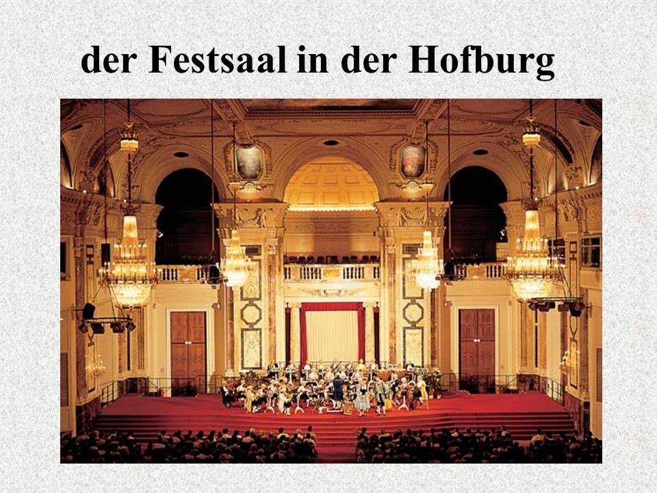 der Festsaal in der Hofburg