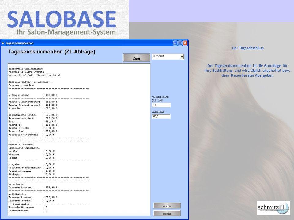 Ihre Vorteile mit SALOBASE 1000-fach getestet geringe Einarbeitungszeit Einsparungen von ca.