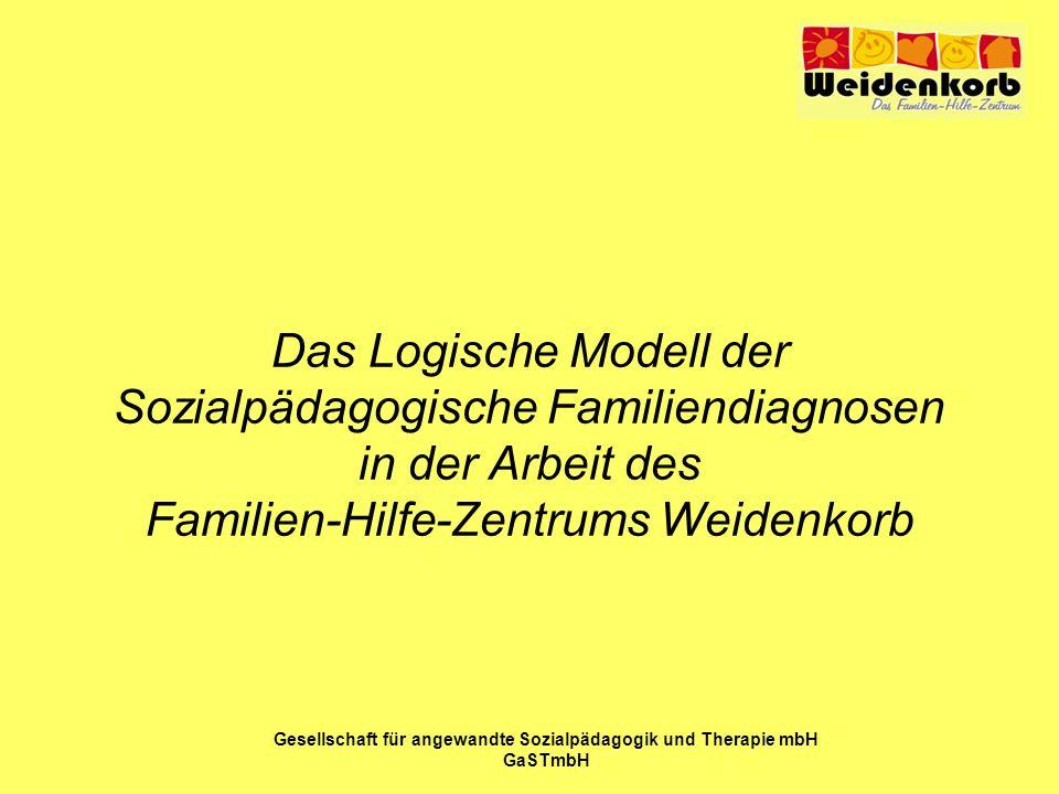 Das Logische Modell der Sozialpädagogische Familiendiagnosen in der Arbeit des Familien-Hilfe-Zentrums Weidenkorb Gesellschaft für angewandte Sozialpä