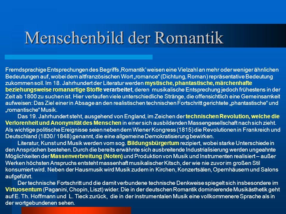 Musikalische Gattungen Fortsetzung Klavierstück Als Gegenstück zum Kunstlied entwickelt sich das kleine lyrische Klavierstück, zu dessen Hauptvertretern Schubert und Schumann gehören.