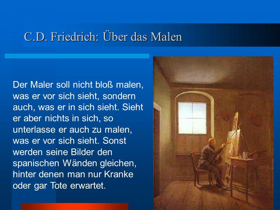 Caspar David Friedrich Landschaft mit Regenbogen 1808/12 Der Schäfer ist dreimal abgebildet: Mittelachse a b d c Goldener Schnitt: a:b = c:d Köpfe-Verbindungslinie