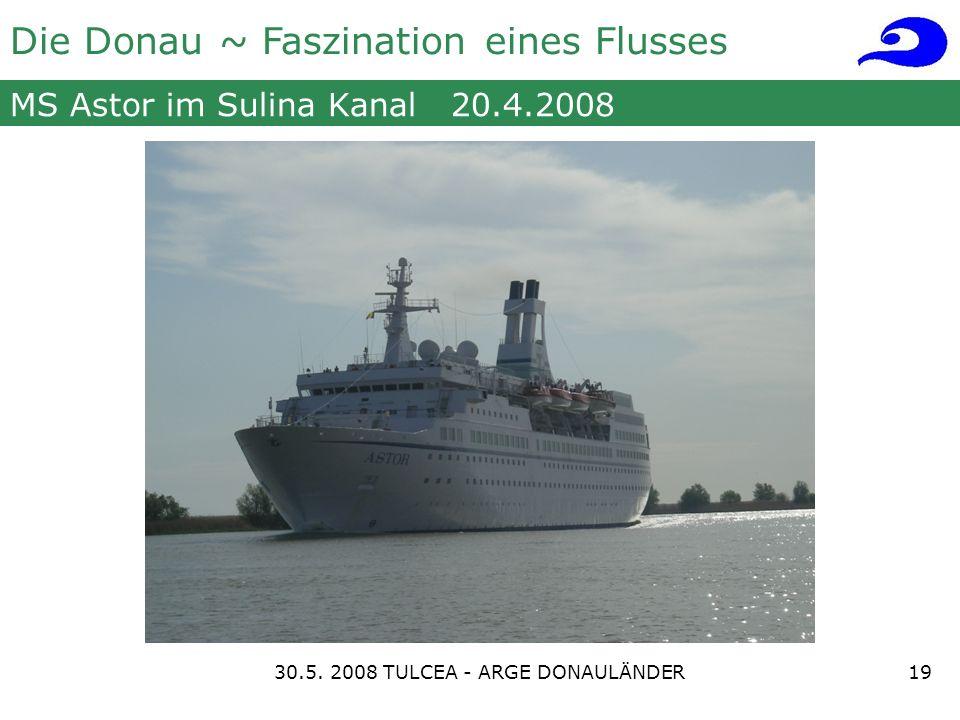 Die Donau ~ Faszination eines Flusses MS Astor im Sulina Kanal 20.4.2008 1930.5.