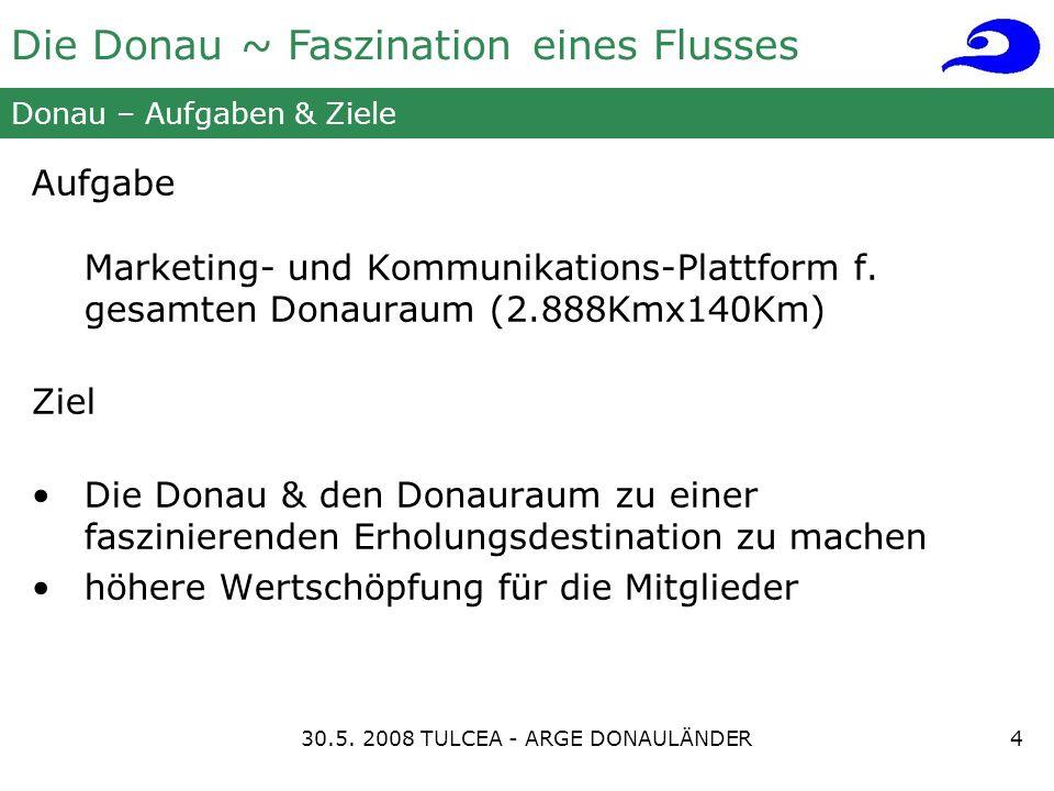 Die Donau ~ Faszination eines Flusses Donau – Aufgaben & Ziele Aufgabe Marketing- und Kommunikations-Plattform f.