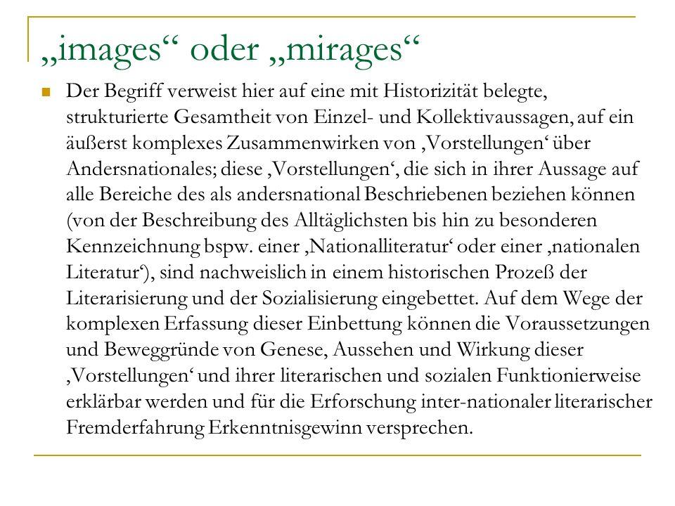 images oder mirages Der Begriff verweist hier auf eine mit Historizität belegte, strukturierte Gesamtheit von Einzel- und Kollektivaussagen, auf ein ä