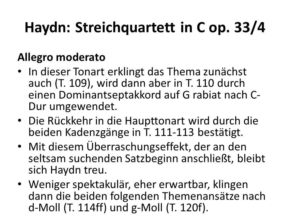 Haydn: Streichquartett in C op.