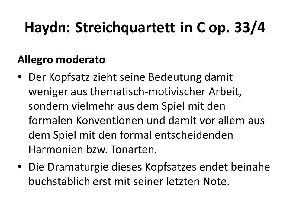Haydn: Streichquartett in C op.33/4 Scherzo.