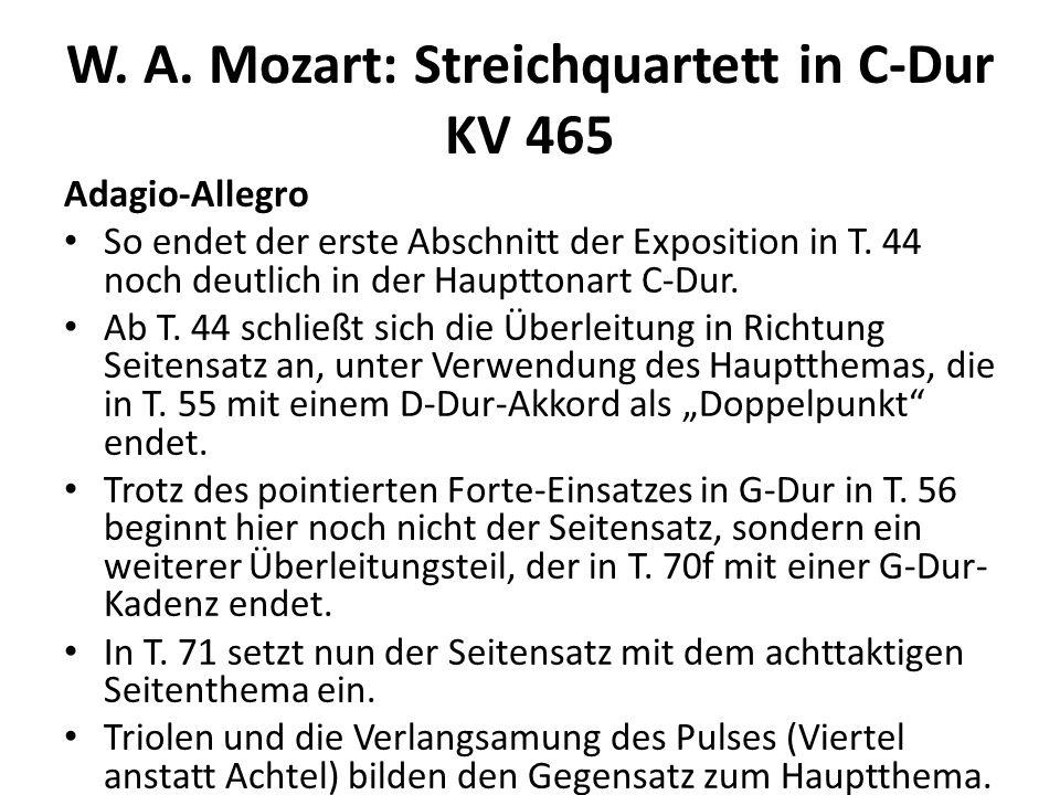 W.A. Mozart: Streichquartett in C-Dur KV 465 Adagio-Allegro Ab T.