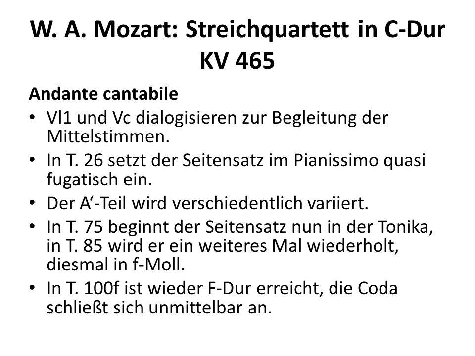 W.A. Mozart: Streichquartett in C-Dur KV 465 Menuetto.
