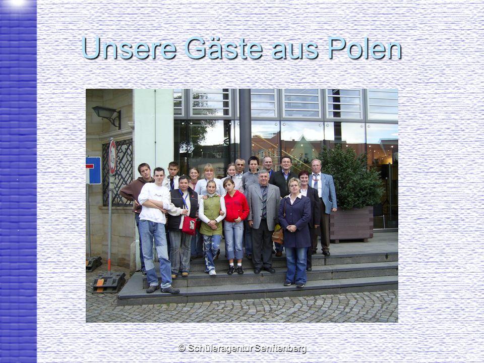 © Schüleragentur Senftenberg Unsere Gäste aus Polen