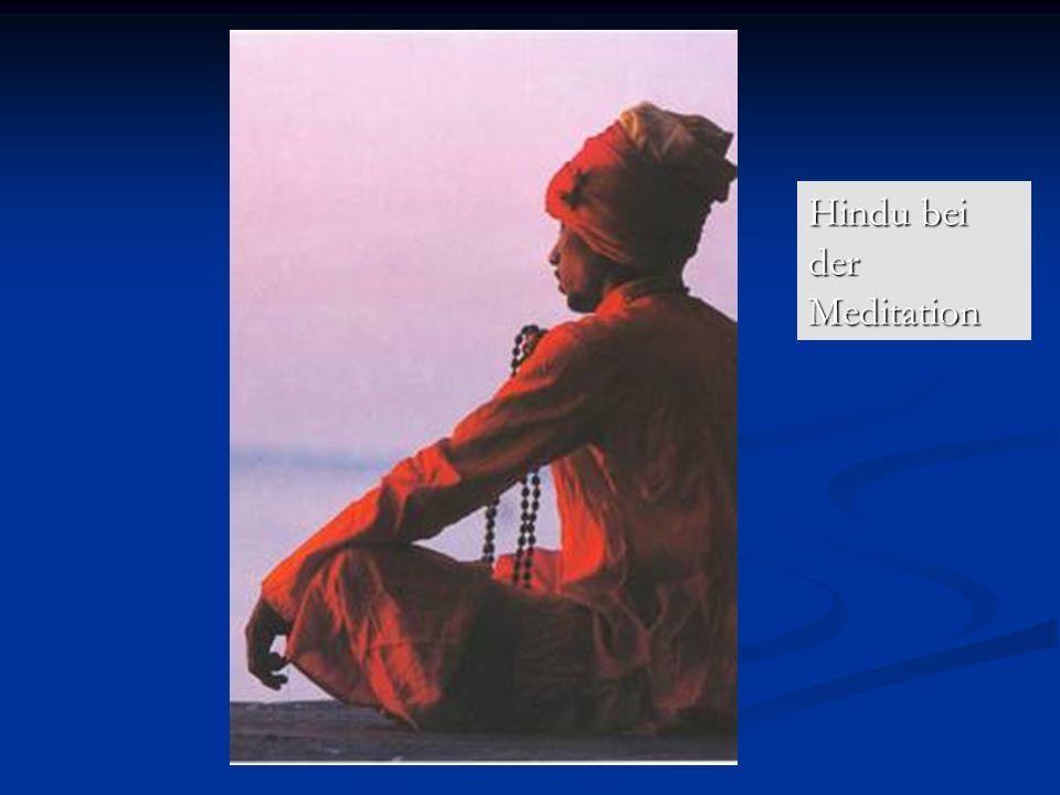 Hindu bei der Meditation