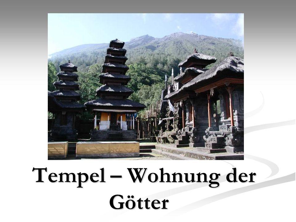 Tempel – Wohnung der Götter