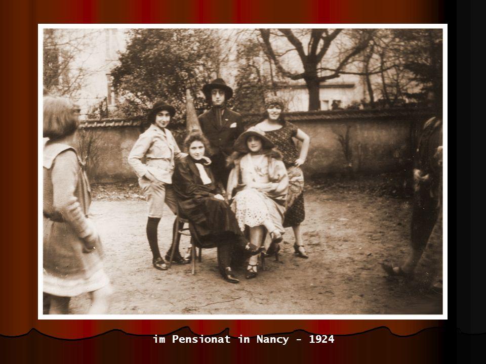 im Pensionat in Nancy - 1924
