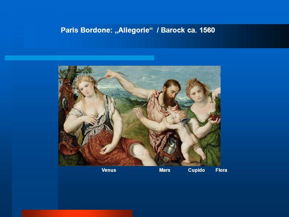 Paris Bordone: Allegorie / Barock ca. 1560 Venus Mars Cupido Flora