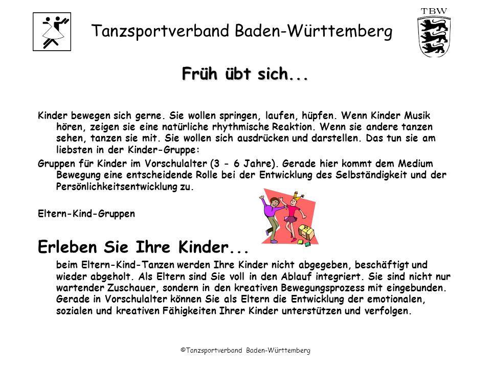 Tanzsportverband Baden-Württemberg ©Tanzsportverband Baden-Württemberg Früh übt sich...
