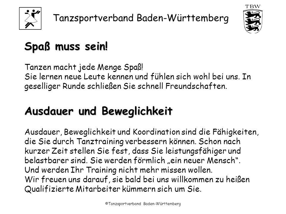 Tanzsportverband Baden-Württemberg ©Tanzsportverband Baden-Württemberg Sportabzeichen:Ja !!.