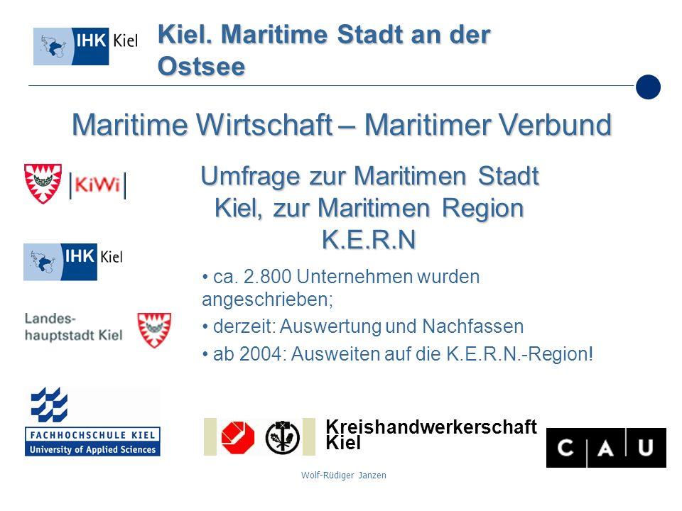 Wolf-Rüdiger Janzen ca. 2.800 Unternehmen wurden angeschrieben; derzeit: Auswertung und Nachfassen ab 2004: Ausweiten auf die K.E.R.N.-Region! Kiel. M