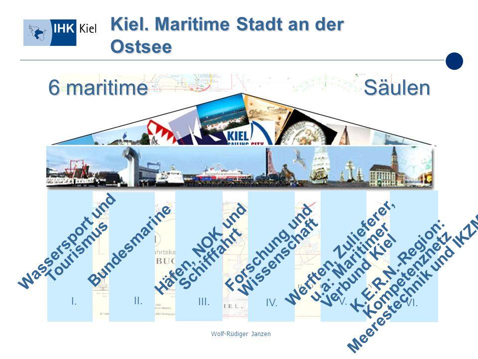 Wolf-Rüdiger Janzen Kiel. Maritime Stadt an der Ostsee I. II. III. IV. V. VI. Bundesmarine Werften, Zulieferer, u.a: Maritimer Verbund Kiel Häfen, NOK