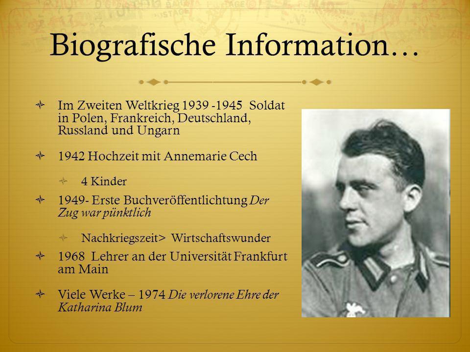 Biografische Information… Im Zweiten Weltkrieg 1939 -1945 Soldat in Polen, Frankreich, Deutschland, Russland und Ungarn 1942 Hochzeit mit Annemarie Ce