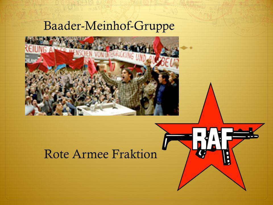 Baader-Meinhof-Gruppe Rote Armee Fraktion
