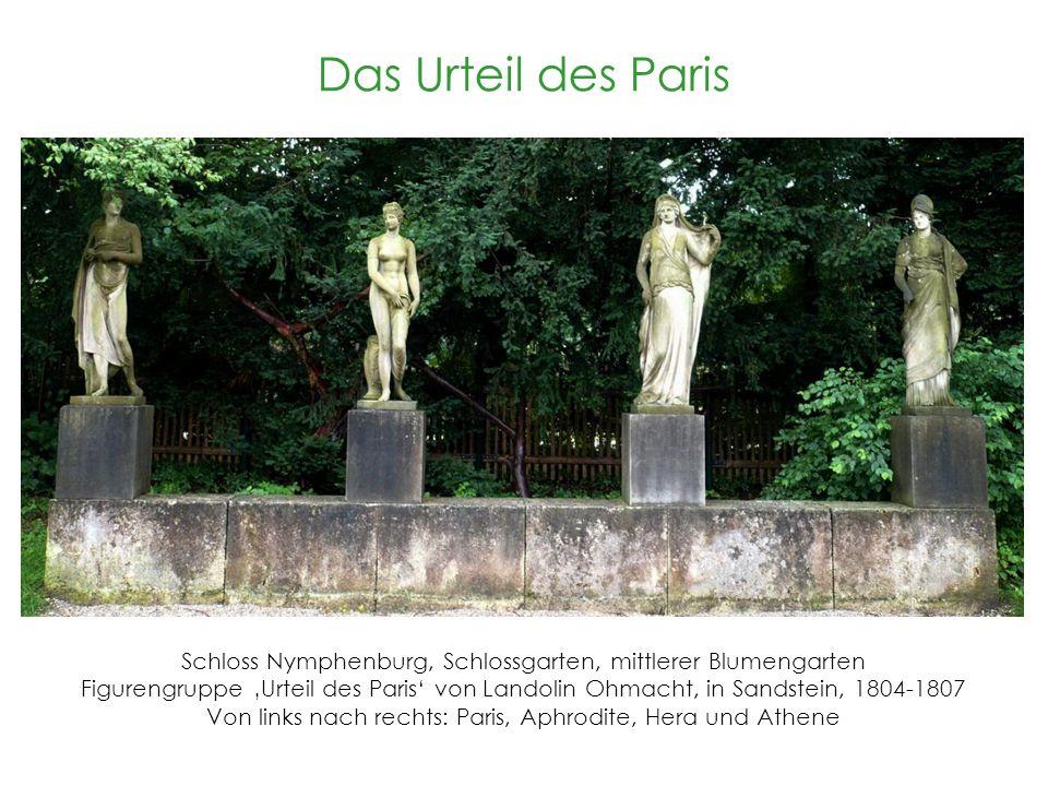 Das Urteil des Paris ist eine Figurengruppe die im mittlerem Blumengarten des Schlossgarten vom Schloss Nymphenburg steht und wurde von 1804-1807 von Landolin Ohmacht in Sandstein gehauen.