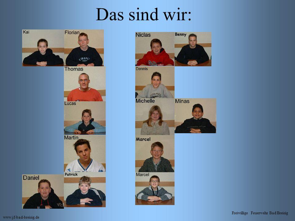 Das sind wir: www.jf-bad-breisig.de Freiwillige Feuerwehr Bad Breisig Marcel