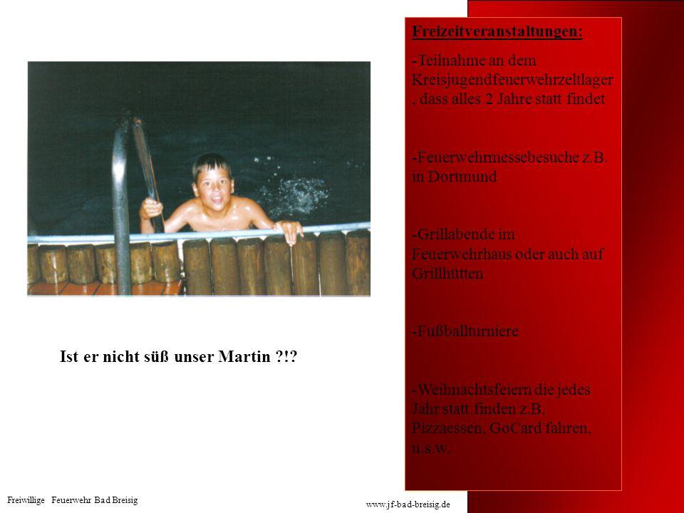 Freizeitveranstaltungen: -Teilnahme an dem Kreisjugendfeuerwehrzeltlager, dass alles 2 Jahre statt findet -Feuerwehrmessebesuche z.B. in Dortmund -Gri