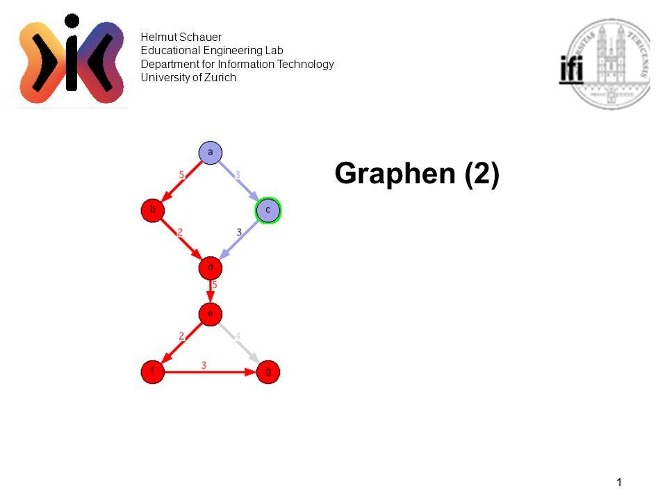 1 Helmut Schauer Educational Engineering Lab Department for Information Technology University of Zurich Graphen (2)