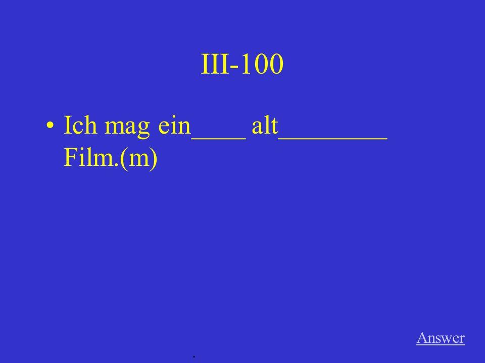 II-500 Ich ________________ ein Spezi ________________. (Perfekt) Answer.