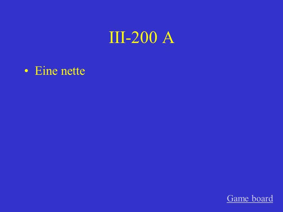 III-100 A einen alten Game board