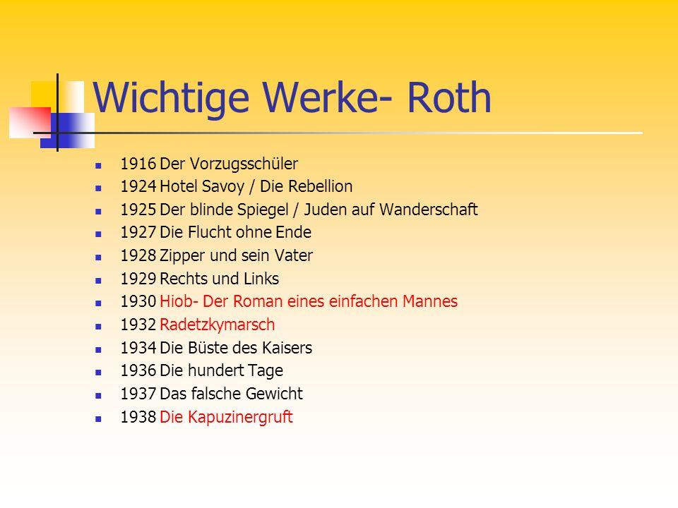 Web-Tipps, Wissenskontrolle http://www.wortblume.de/dichterinnen/ebner_i.htm (Kurzbiographie (Ebn), Inhaltsverzeichnis ihrer Gedichte) http://www.wortblume.de/dichterinnen/ebner_i.htm http://www.zit.at/show_name.php3?name=418 (Zitate (Ebn)) http://www.zit.at/show_name.php3?name=418 http://oregonstate.edu/instruct/ger341/becca2.htm (Ausführliche Biographie (Ebn)) http://oregonstate.edu/instruct/ger341/becca2.htm http://www.josephroth.de/ (Offizielle Joseph Roth Homepage, Buchbesprechungen, Erzählwerke im Überblick…) http://www.josephroth.de/ http://www.onlinekunst.de/september/02_09_Roth_Joseph_2.htm (Ausführliche Biographie (Roth)) http://www.onlinekunst.de/september/02_09_Roth_Joseph_2.htm Wissenskontrolle: Lückentext, QuizLückentextQuiz