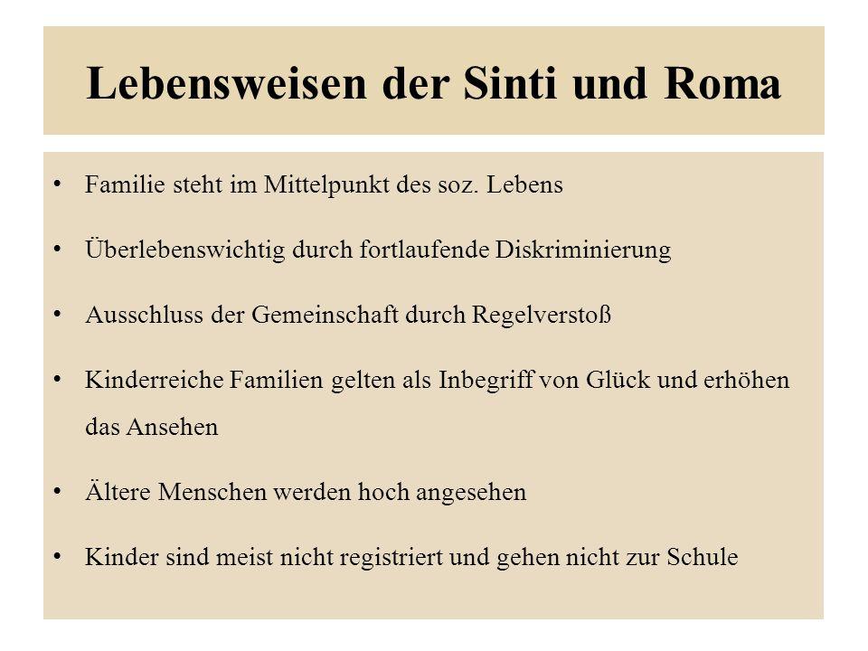 Lebensweisen der Sinti und Roma Familie steht im Mittelpunkt des soz.