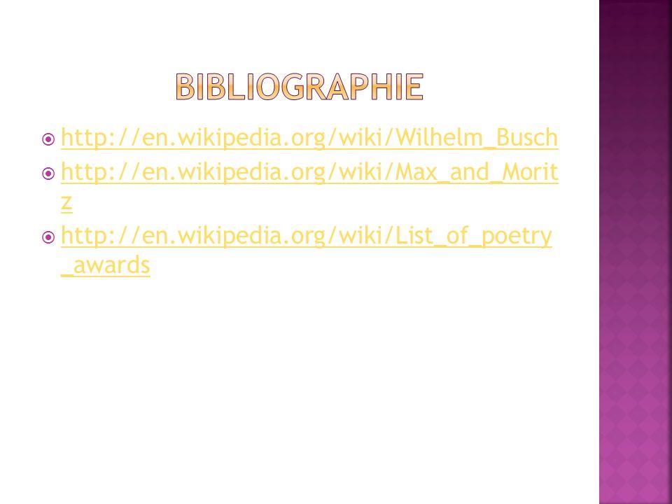 http://en.wikipedia.org/wiki/Wilhelm_Busch http://en.wikipedia.org/wiki/Max_and_Morit z http://en.wikipedia.org/wiki/Max_and_Morit z http://en.wikiped