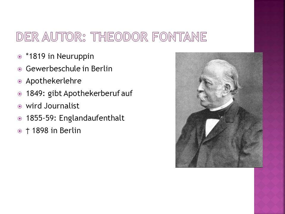 *1819 in Neuruppin Gewerbeschule in Berlin Apothekerlehre 1849: gibt Apothekerberuf auf wird Journalist 1855-59: Englandaufenthalt 1898 in Berlin