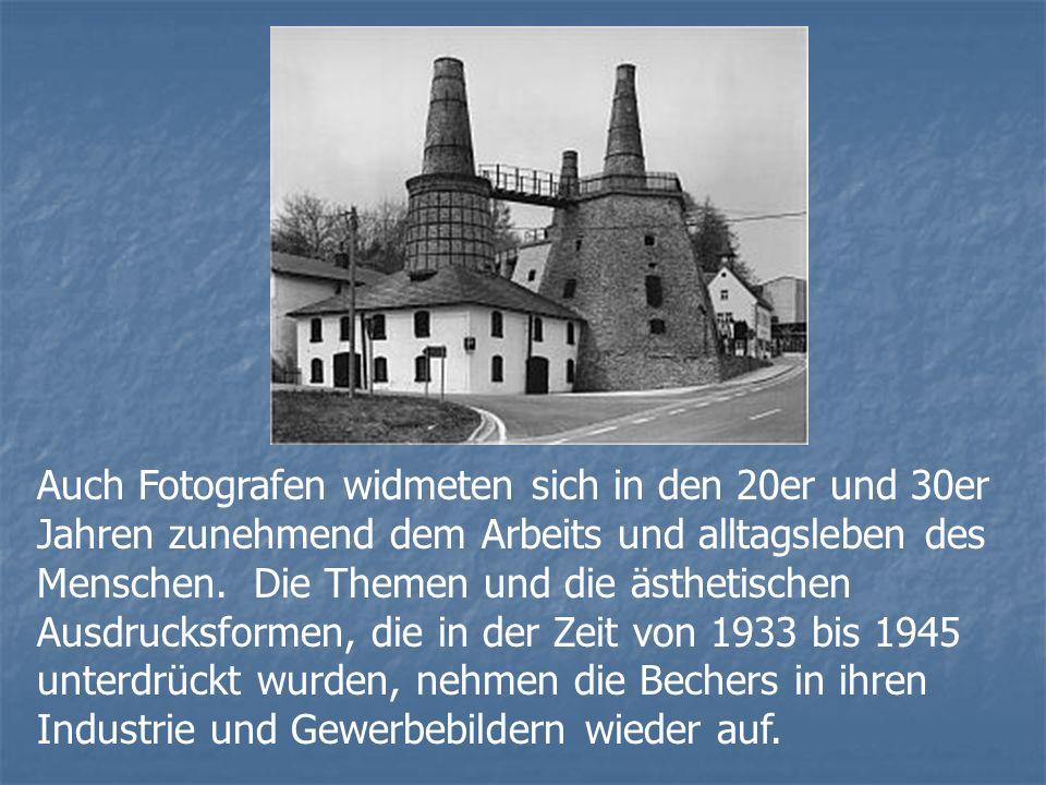Auch Fotografen widmeten sich in den 20er und 30er Jahren zunehmend dem Arbeits und alltagsleben des Menschen.