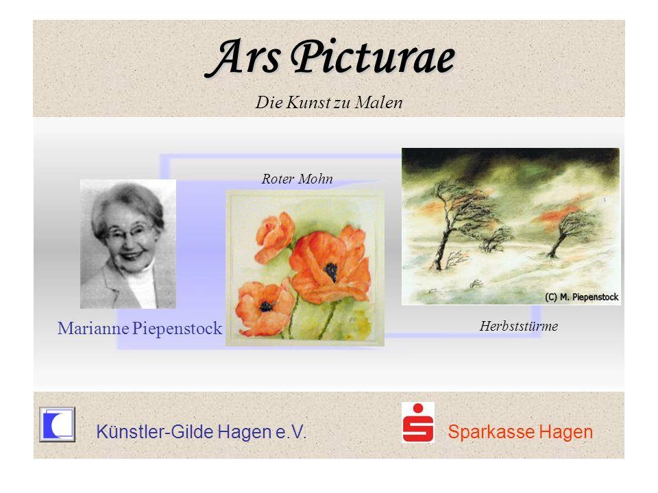 Ars Picturae Ars Picturae Die Kunst zu Malen Roter Mohn Marianne Piepenstock Herbststürme Ars Picturae Ars Picturae Die Kunst zu Malen Künstler-Gilde