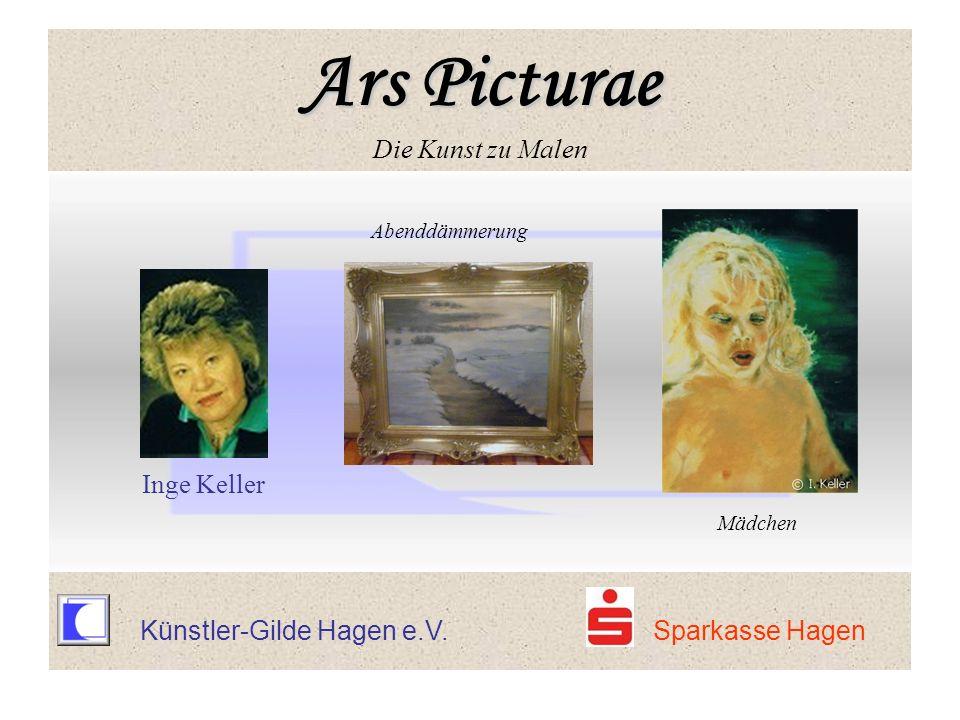 Künstler-Gilde Hagen e.V. Sparkasse Hagen Abenddämmerung Inge Keller Mädchen Ars Picturae Ars Picturae Die Kunst zu Malen