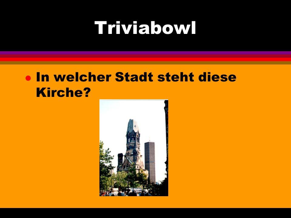 Triviabowl l Wie heissen diese Dinge?