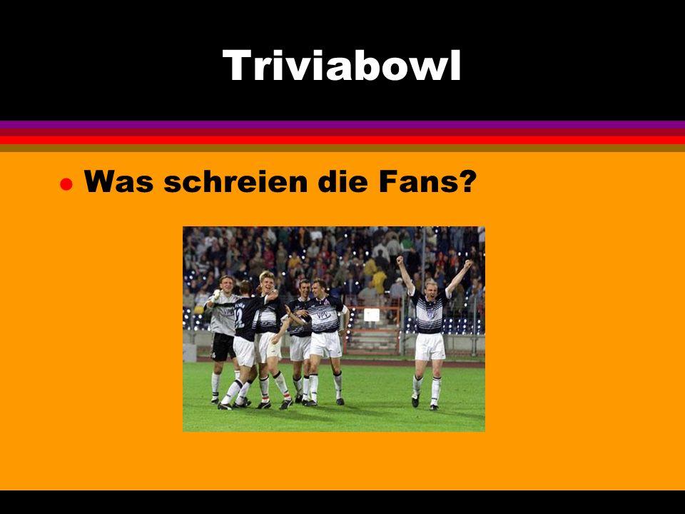 Triviabowl l Was schreien die Fans