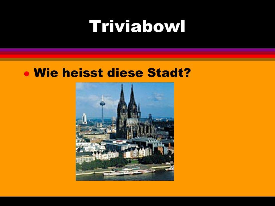 Triviabowl l Wie heissen die zwei Herren? Sie sind Dichter und Denker.