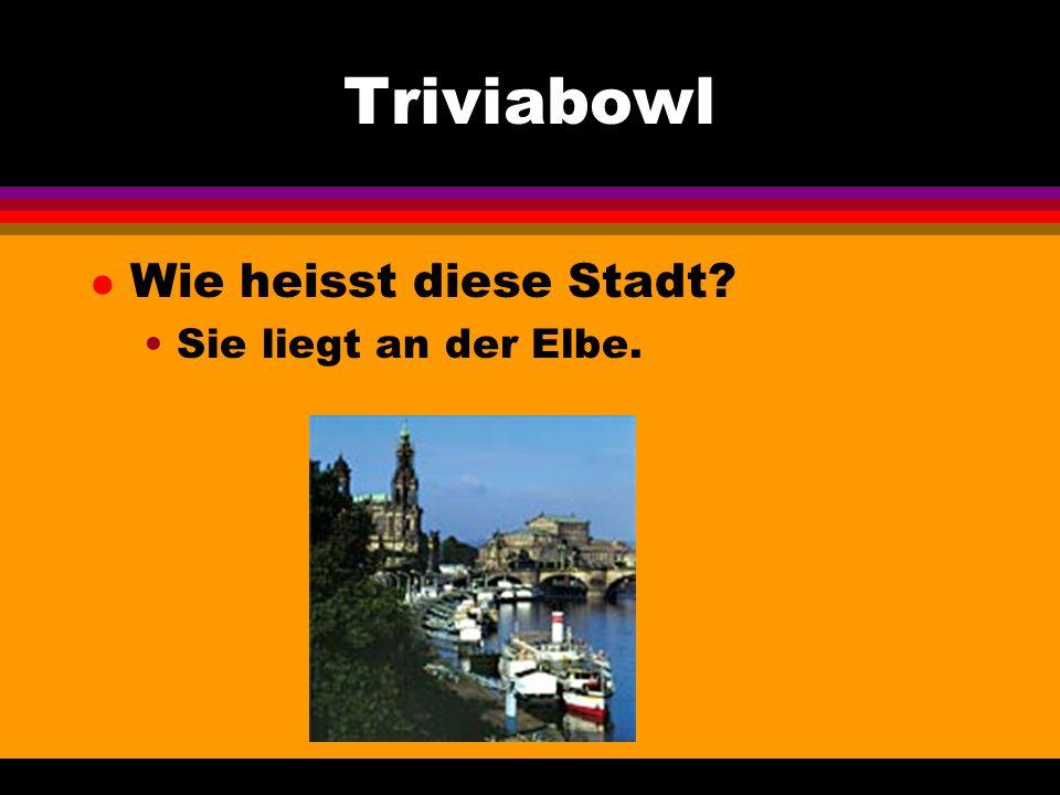 Triviabowl l Wie heisst diese Stadt Sie liegt an der Elbe.