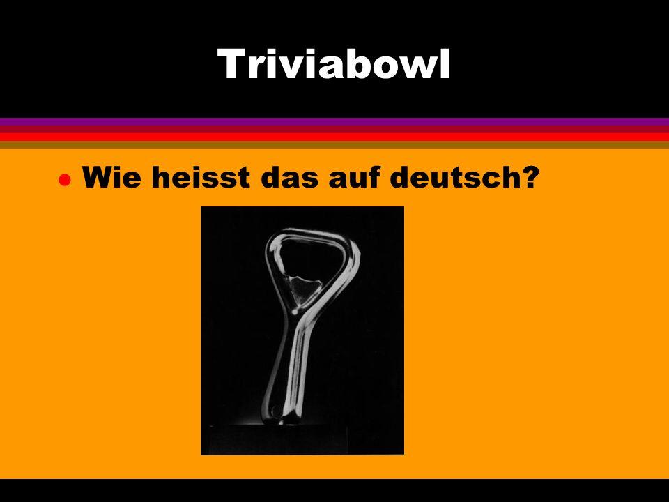 Triviabowl l Wie heisst das auf deutsch