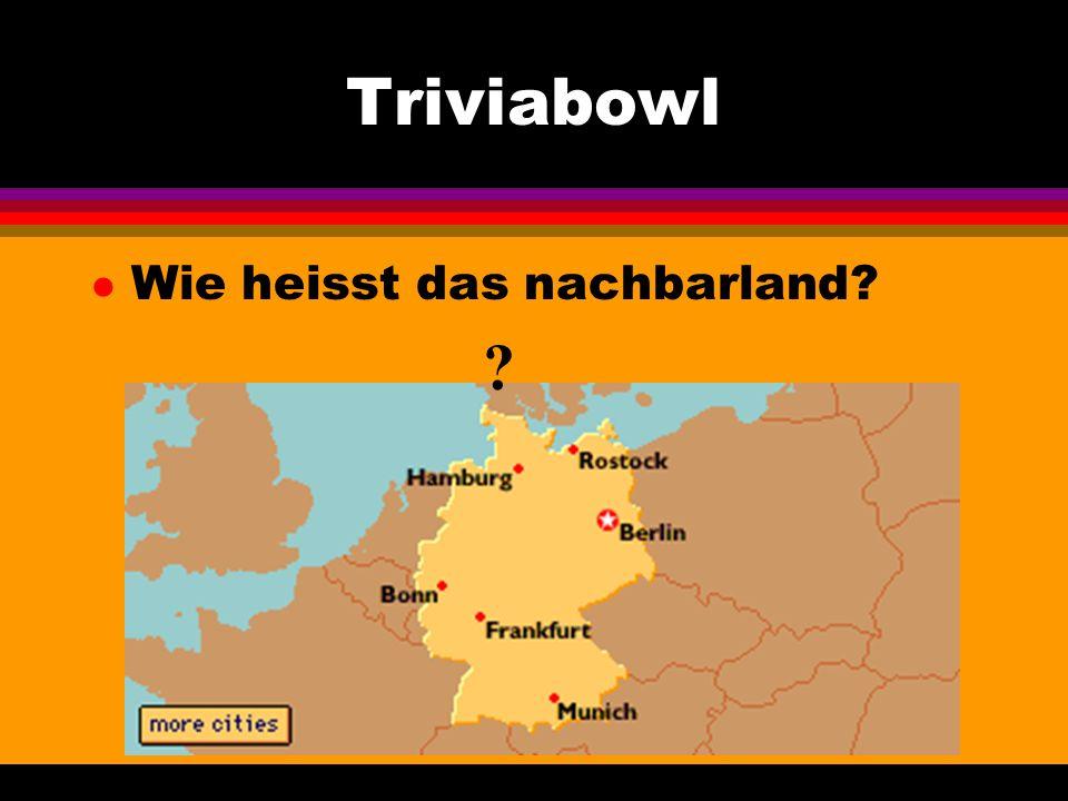 Triviabowl l Aus welchem Land in Europa kommt ein Auto mit diesem Kennzeichen? A