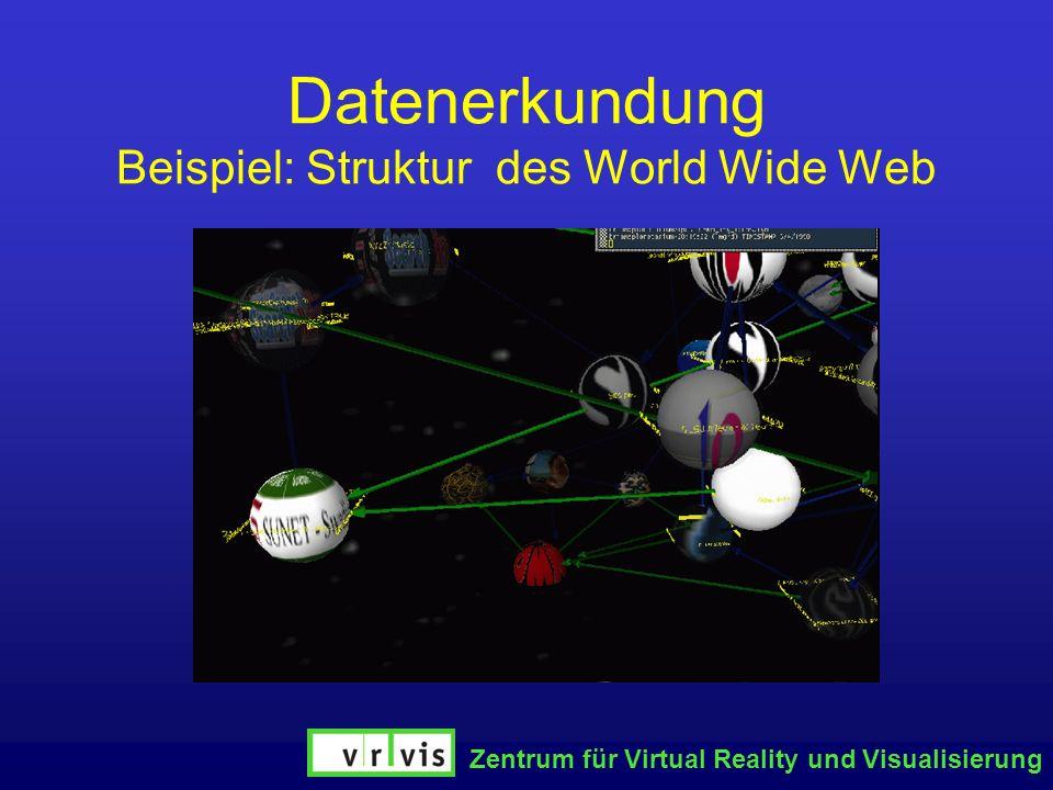 Zentrum für Virtual Reality und Visualisierung Datenerkundung Beispiel: Struktur des World Wide Web