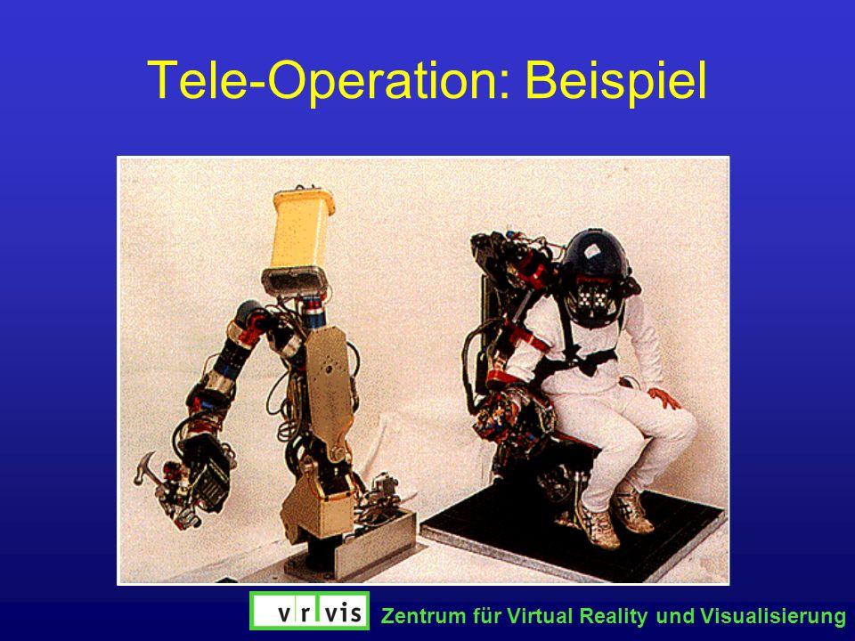 Zentrum für Virtual Reality und Visualisierung Tele-Operation: Beispiel