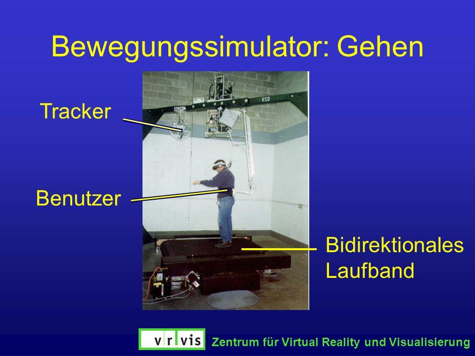 Zentrum für Virtual Reality und Visualisierung Bewegungssimulator: Gehen Bidirektionales Laufband Tracker Benutzer