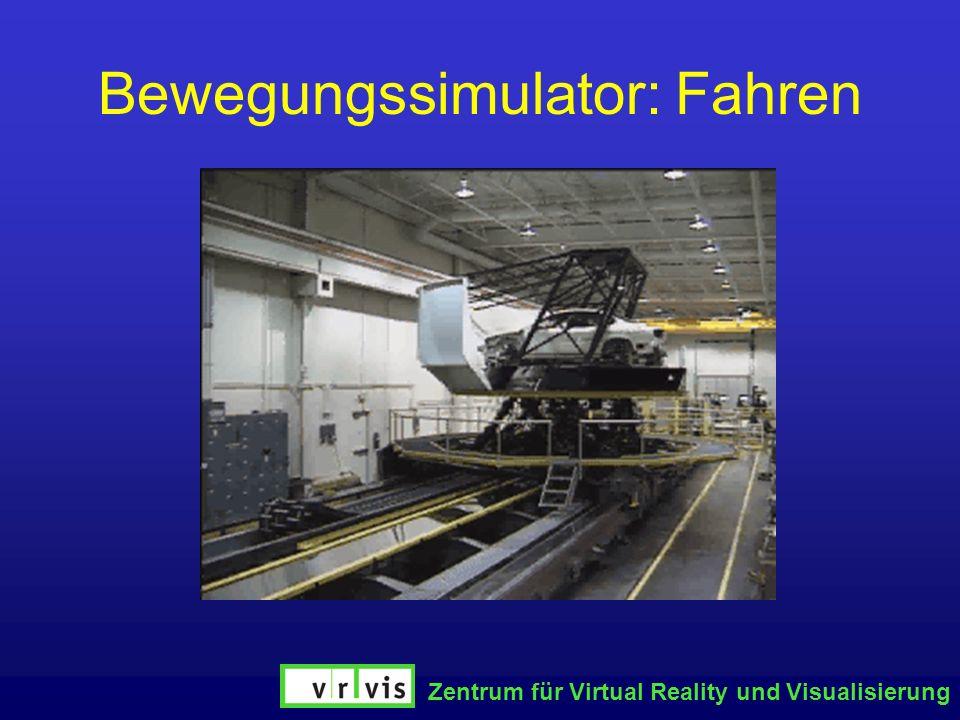Zentrum für Virtual Reality und Visualisierung Bewegungssimulator: Fahren